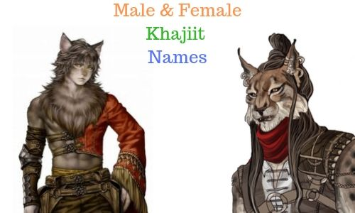 Male and Female Khajiit Names